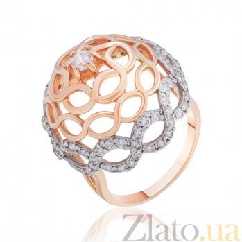 Золотое кольцо с фианитами История соблазнения EDM--КД0384