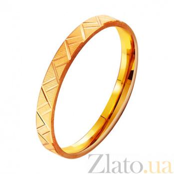 Золотое обручальное кольцо Линии любви TRF--411806