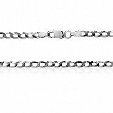 Серебряная цепочка Ариан с чернением, 60 см