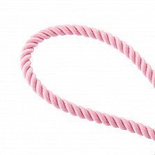 Шелковый розовый шнурок Мир с серебряной позолоченой застежкой,2мм