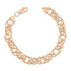 Золотой браслет в комбинированном цвете 000002319