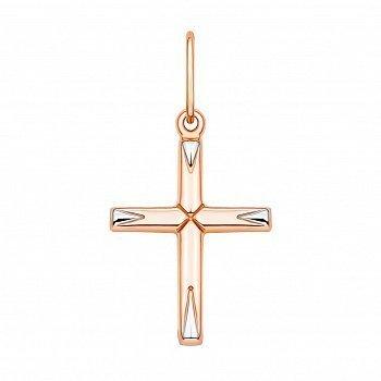 Золотий хрестик в комбінованому кольорі 000132287