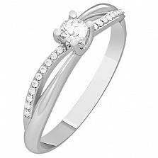 Кольцо из белого золота с бриллиантами Monique