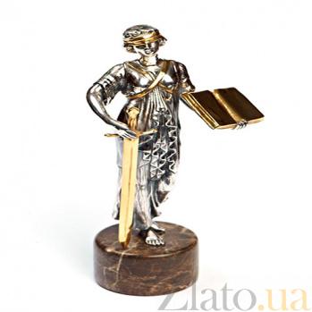 Серебряная статуэтка с позолотой Закон и порядок 231
