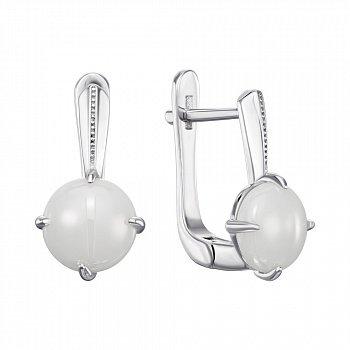 Серебряные серьги с керамикой 000148017