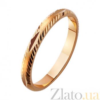Золотое обручальное кольцо Романтическое сияние TRF--411788