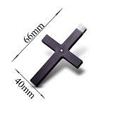 Карбоновый крест Стиль с золотым бунтом и камнем Swarovski