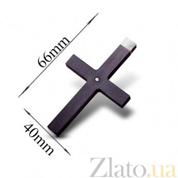 Карбоновый крест Стиль с золотым бунтом и камнем Swarovski CJ002