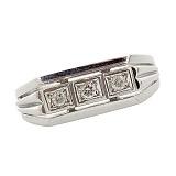 Серебряный перстень с бриллиантами Босс