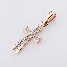 Золотой крестик Жозефа с бриллиантами в ассортименте