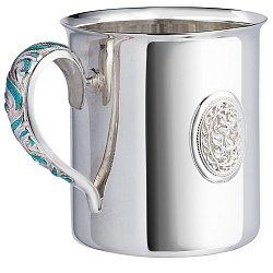 Серебряная чайная чашка с эмалью 000044250
