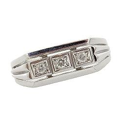 Серебряный перстень с бриллиантами 000022210