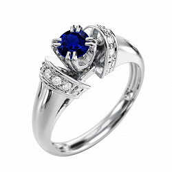 Золотое кольцо с сапфиром Альциона