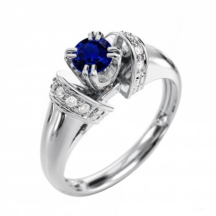 Золотое кольцо с сапфиром Альциона VLA--11018