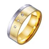 Золотое обручальное кольцо Только Ты и Я с фианитами
