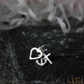 Серебряная подвеска Вера, Надежда, Любовь LEL--62116
