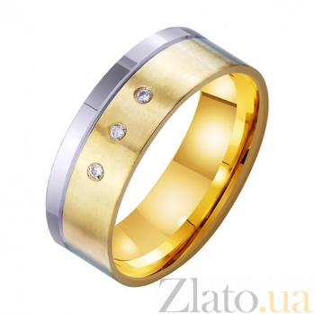 Золотое обручальное кольцо Только Ты и Я с фианитами TRF--4521753