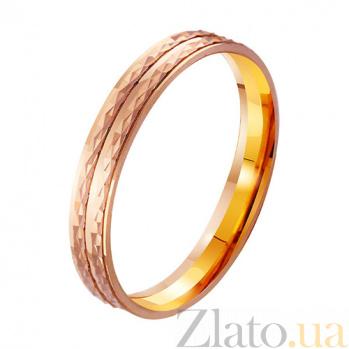 Золотое обручальное кольцо Вечный праздник TRF--4111107