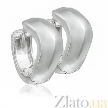 Серебряные серьги Волна 10030155