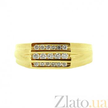 Золотой перстень в жёлтом цвете с бриллиантами Найк 000021397