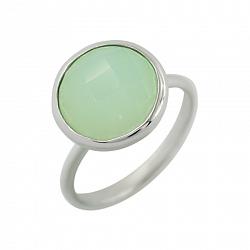 Серебряное кольцо с халцедоном Вечерние джунгли