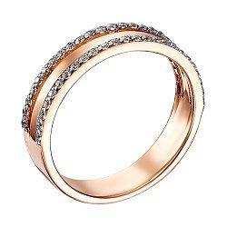 Обручальное кольцо с фианитами и родированием 000139180