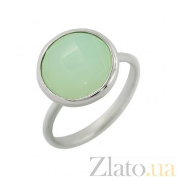Серебряное кольцо с халцедоном Вечерние джунгли 3К106-0055