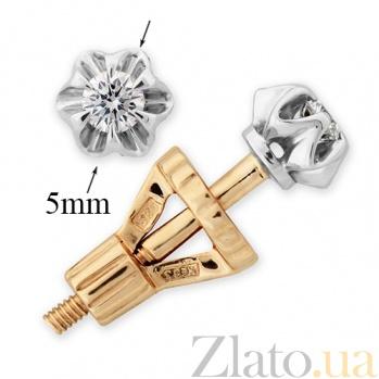 Золотые серьги с бриллиантами Джуди VLA--20060
