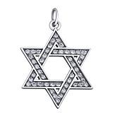 Серебряная Звезда Давида с фианитами