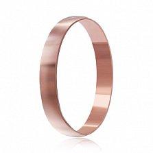 Обручальное серебряное кольцо Классический стиль с позолотой