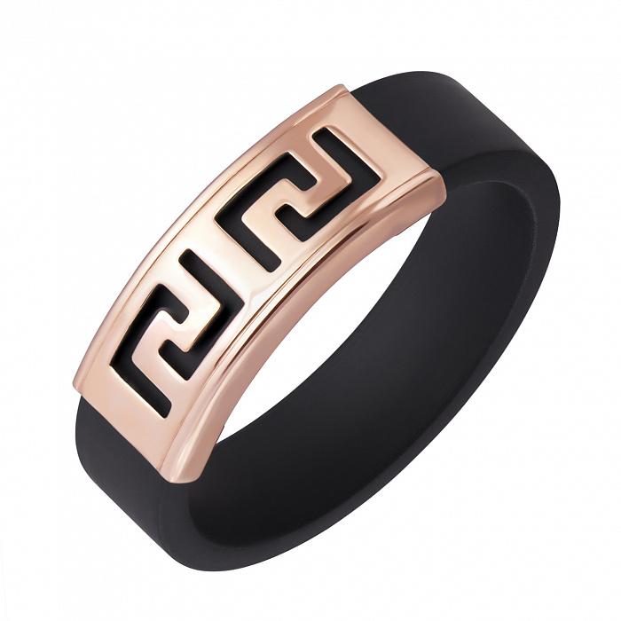 Кольцо Калисто из красного золота и черного каучука 000005023