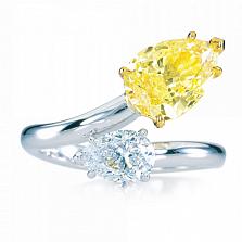 Кольцо Argile-Q с топазом и желтым сапфиром