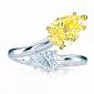 Кольцо Argile-Q с топазом и желтым сапфиром R-cjQ-W-3s-48d