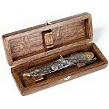 Серебряный подарочный нож Улитка