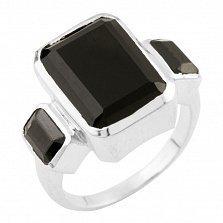 Серебряное кольцо Паола с ониксом