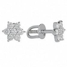 Серьги с бриллиантами Crux