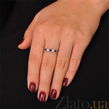 Кольцо из белого золота Симфония с сапфирами и бриллиантами EDM--КД7408/1САПФИР