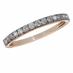Обручальное кольцо из красного золота Обещание с бриллиантами