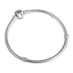 Серебряный браслет для шармов Сердца
