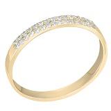 Кольцо из желтого золота с бриллиантами Счастье любимой