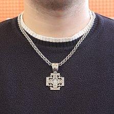 Серебряный крест Иерусалимский с золотыми накладками