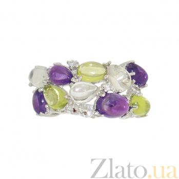 Серебряное кольцо Раиса 3К934-0034