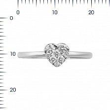Кольцо из белого золота Влюбленность с бриллиантами