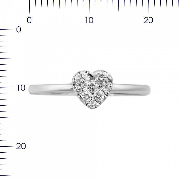 Кольцо из белого золота Влюбленность с бриллиантами 000080931