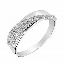 Серебряное кольцо с фианитами 000130218