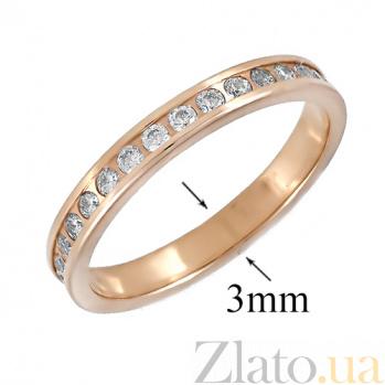 Золотое кольцо с фианитами Стивия ONX--к01326