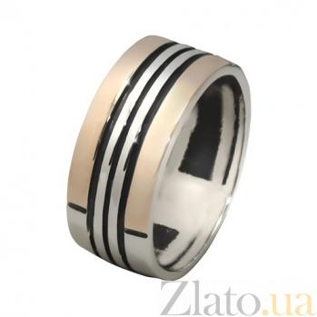 Серебряное кольцо с золотой вставкой Маренго BGS--637к