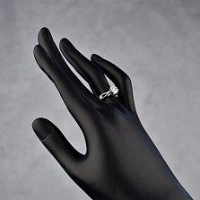 Кольцо из белого золота с бриллиантами Флер
