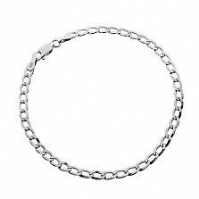 Серебряный браслет Ариан, 21 см, 3,5 мм