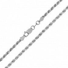 Серебряная цепь Шанхай с родированием, 2,5 мм